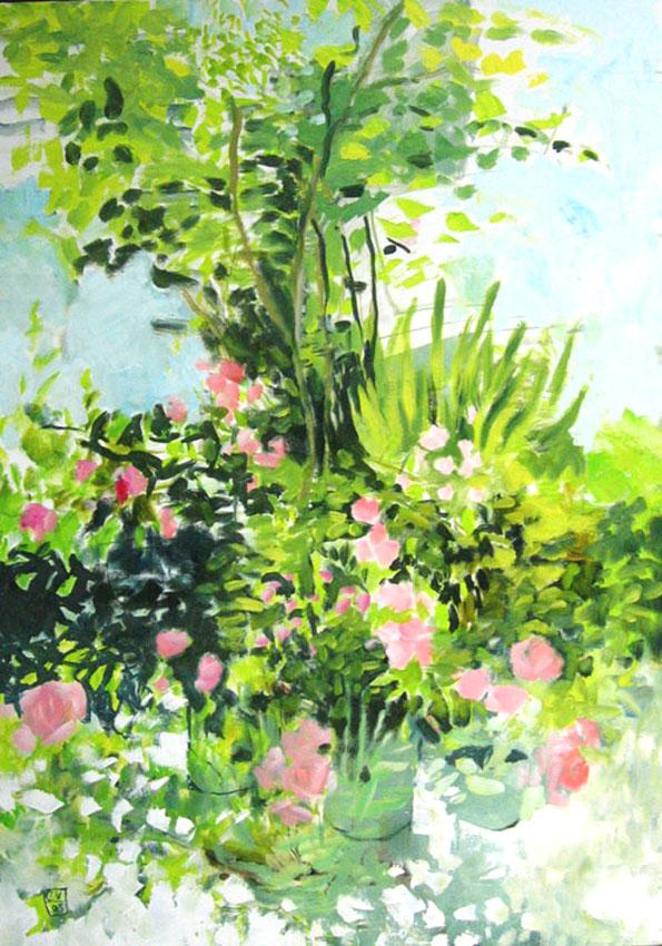 Terrasse fleurie - 2005 - 120 x 75 cm