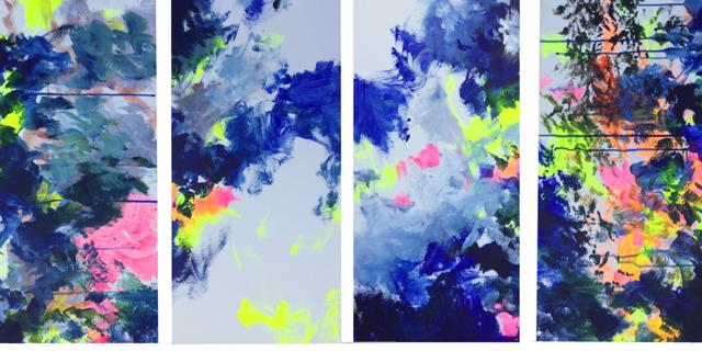 Série bleue  - 2019 - 4 × 30 par 60 cm