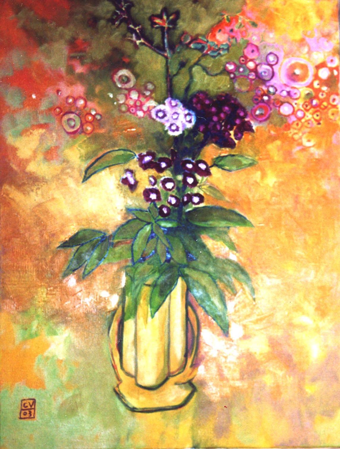 Bouquetw jaune - 2003. 50X60 cm