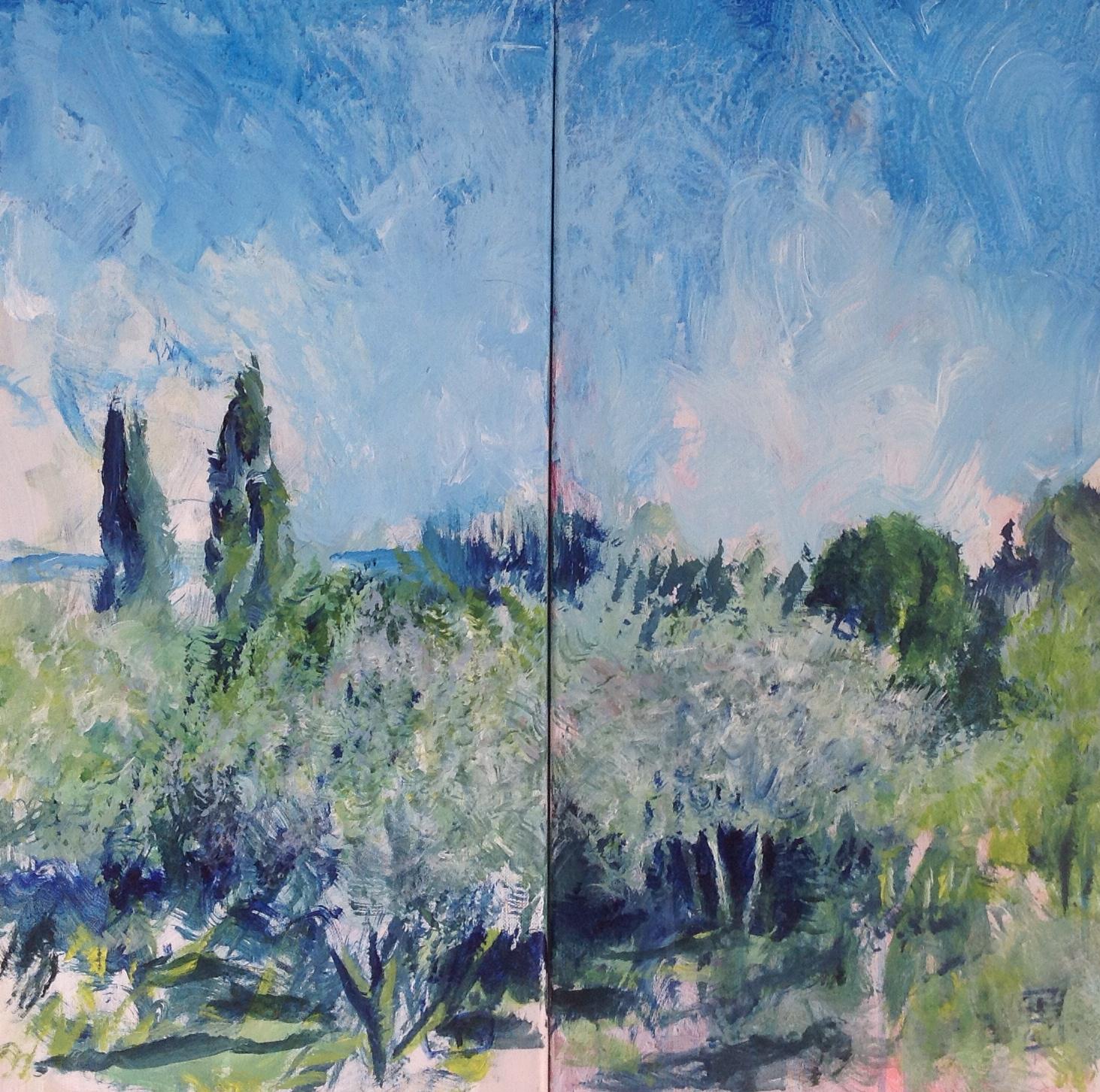 Dyptique - 2014 - 2 panneaux 30 x 60 cm