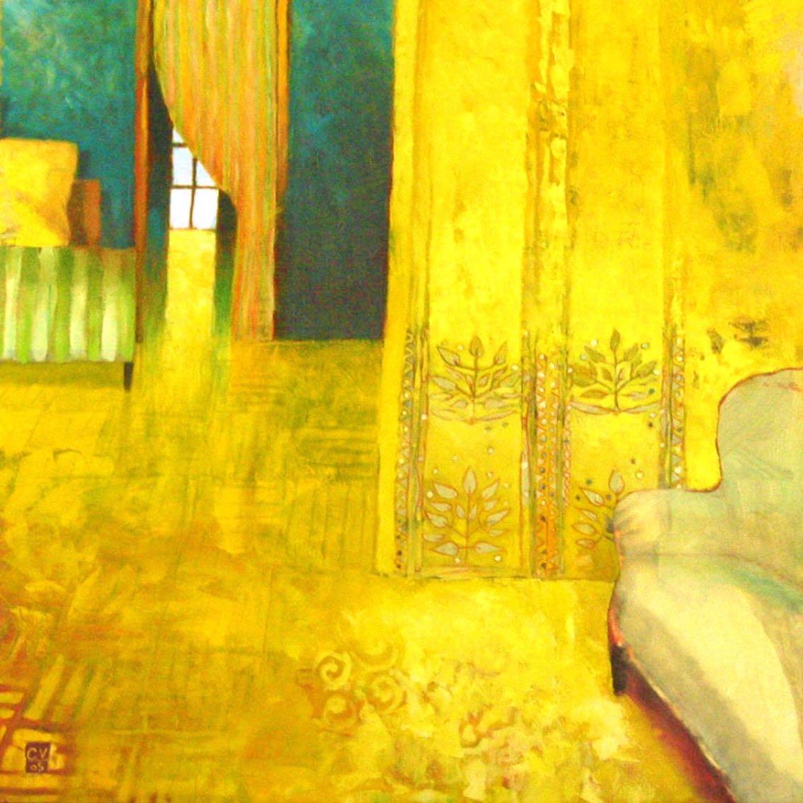 Salon jaune - 2005. 100X100 cm