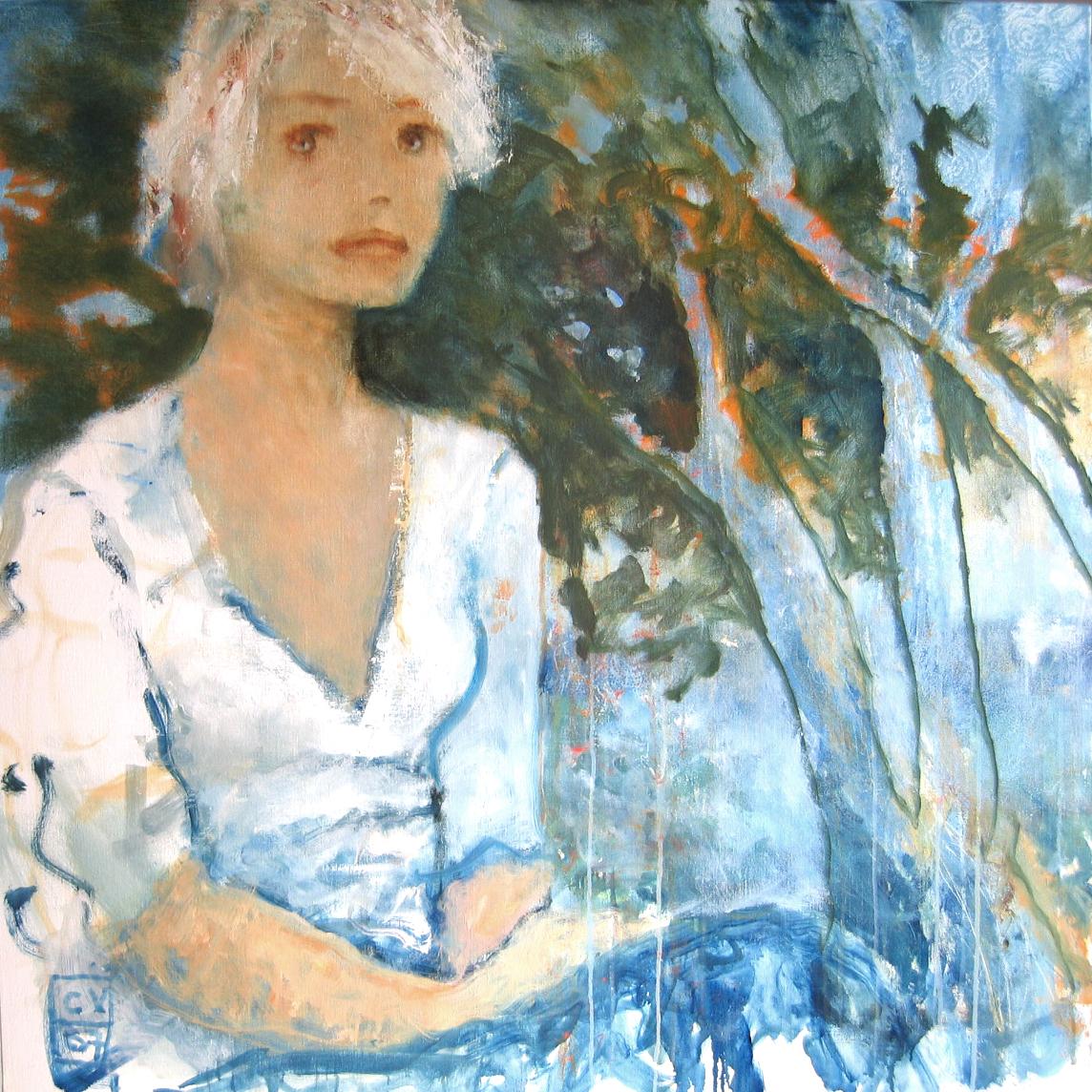 Les yeux bleus - 2007 - 100 x 100 cm