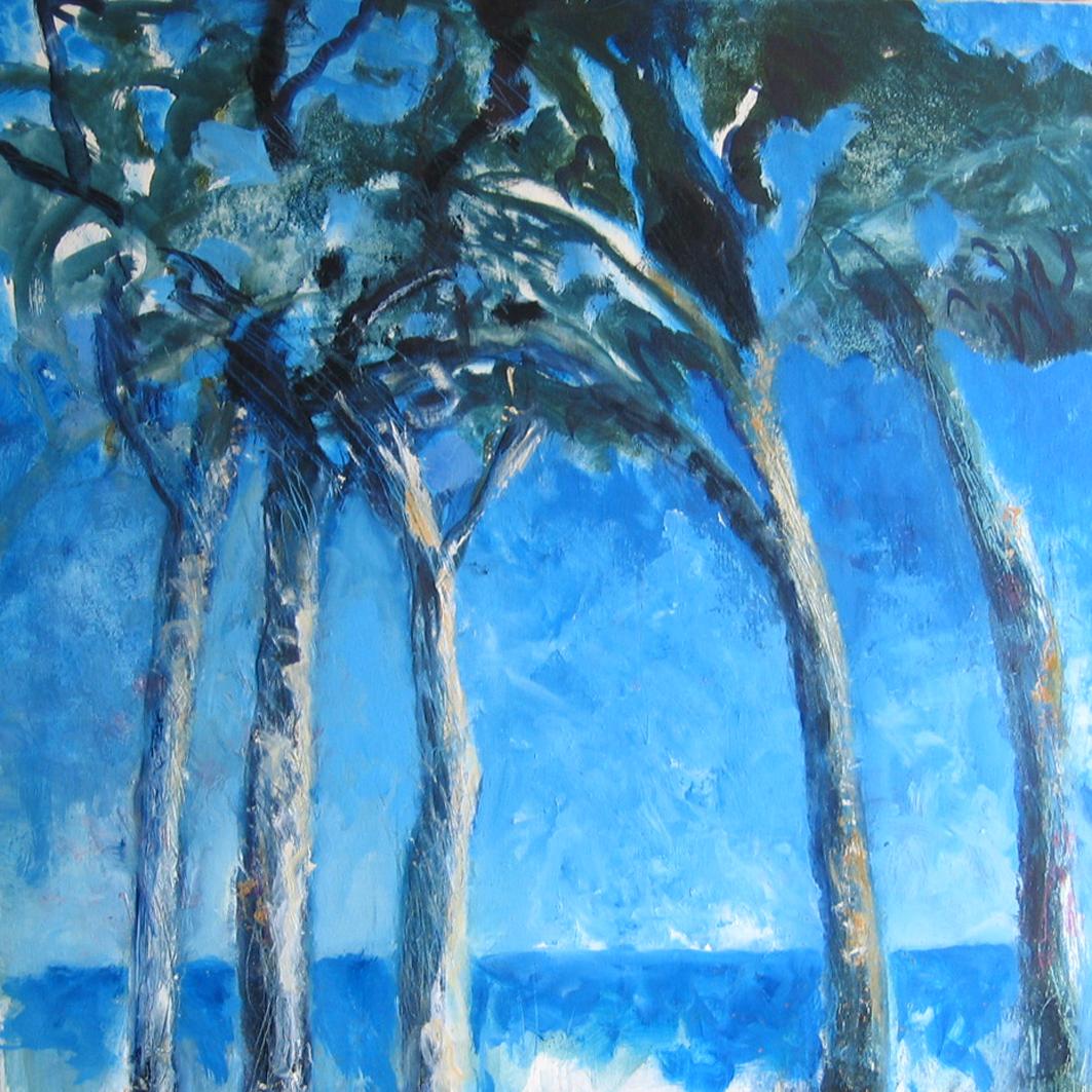 Cinq pins - 2008 - 80 X 80 cm