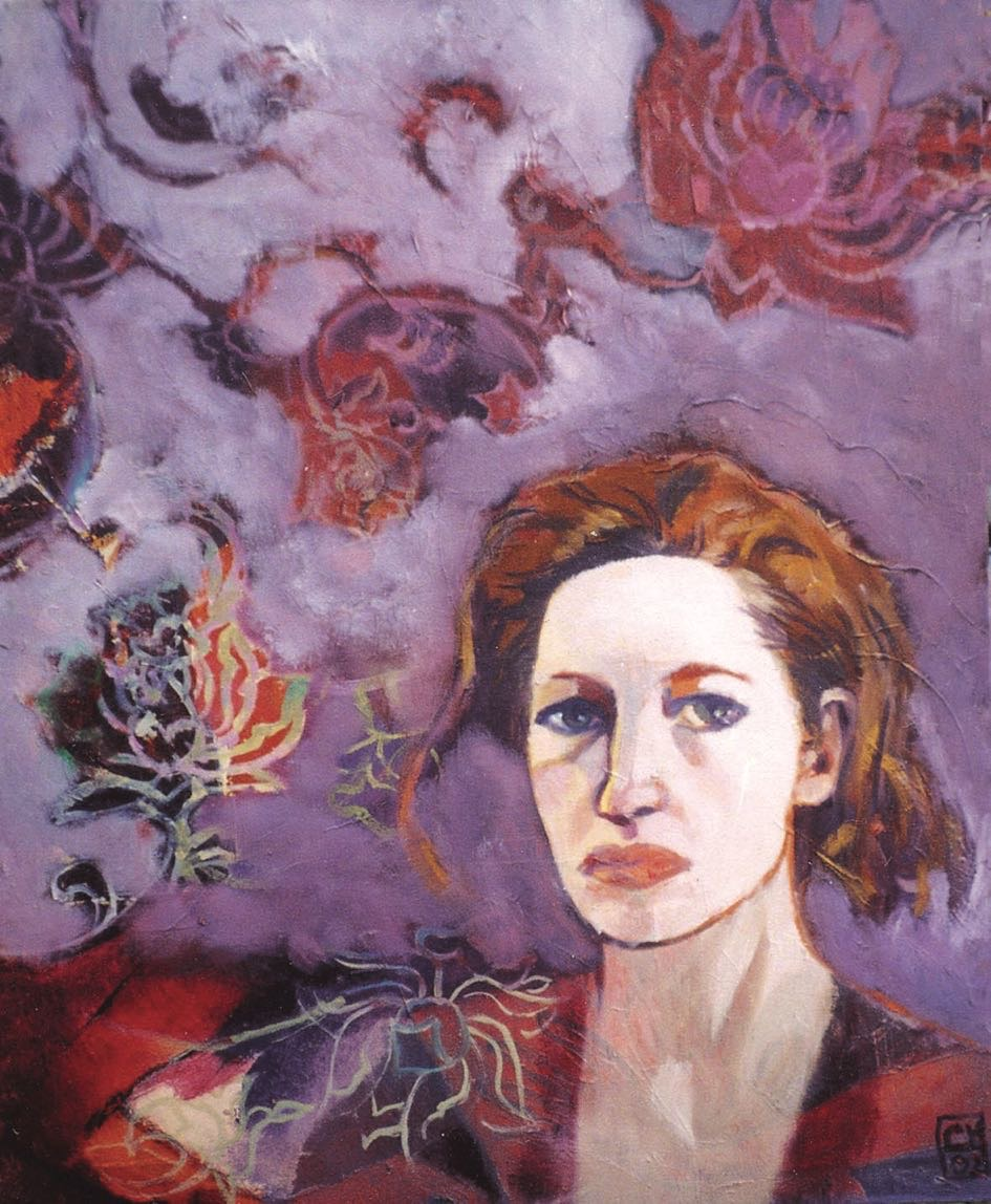 Autoportrait violet - 2002 - 60 × 70 cm
