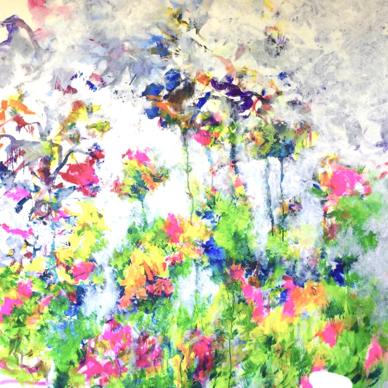 Fleurs imaginaires -2020-100x100 cm