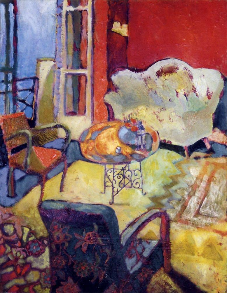 Mon salon à Asnières - 1995 60X70 cm