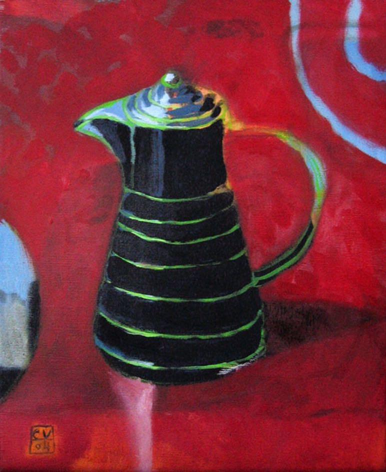 Cafetière–2003–50 × 60 cm