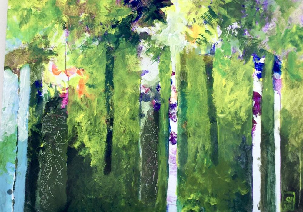 Forêt verte 2020- 100x70 cm