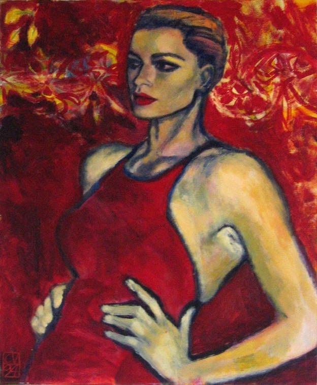 La femme rouge - 1994. 60X70 cm