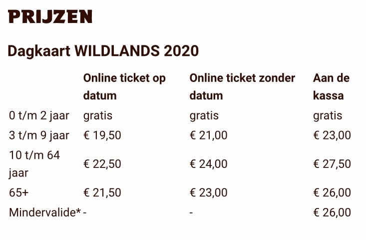 Wildlands prijzen