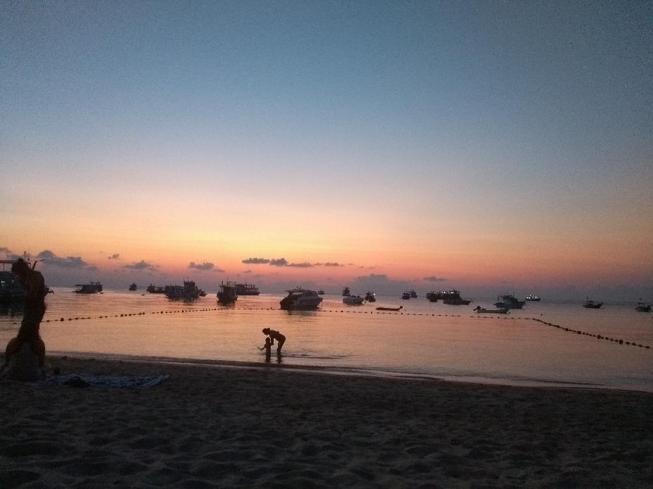 Sonnenuntergang gestern