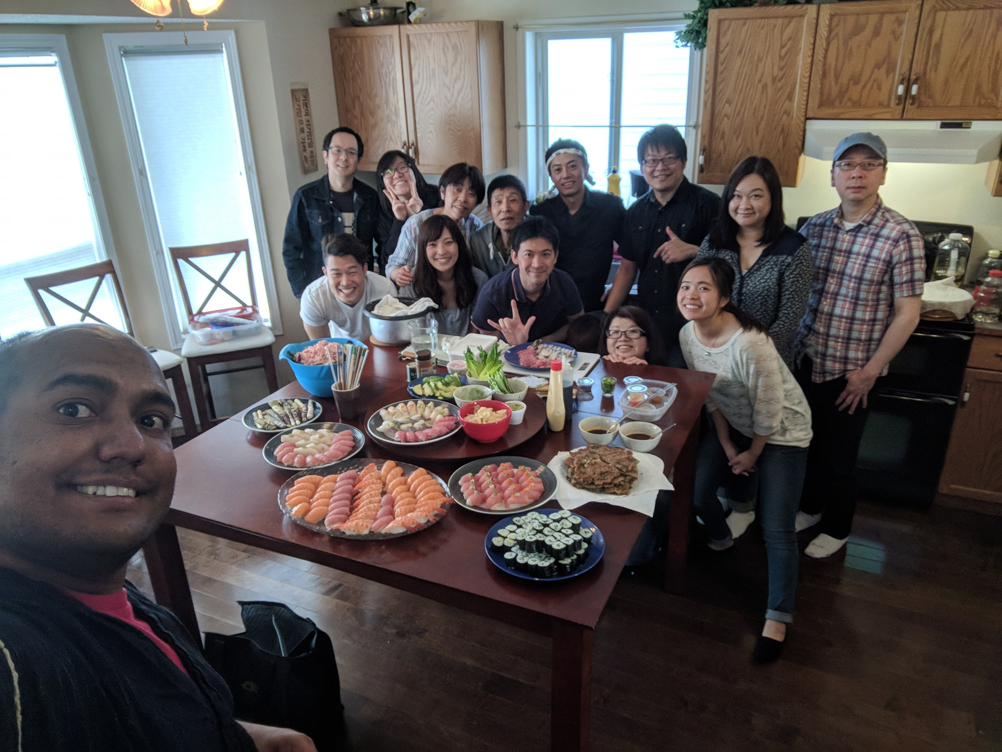 5/5 Sushi & Movie Night! Pastor's appreciation Dinner at Yun Seong & Shennon