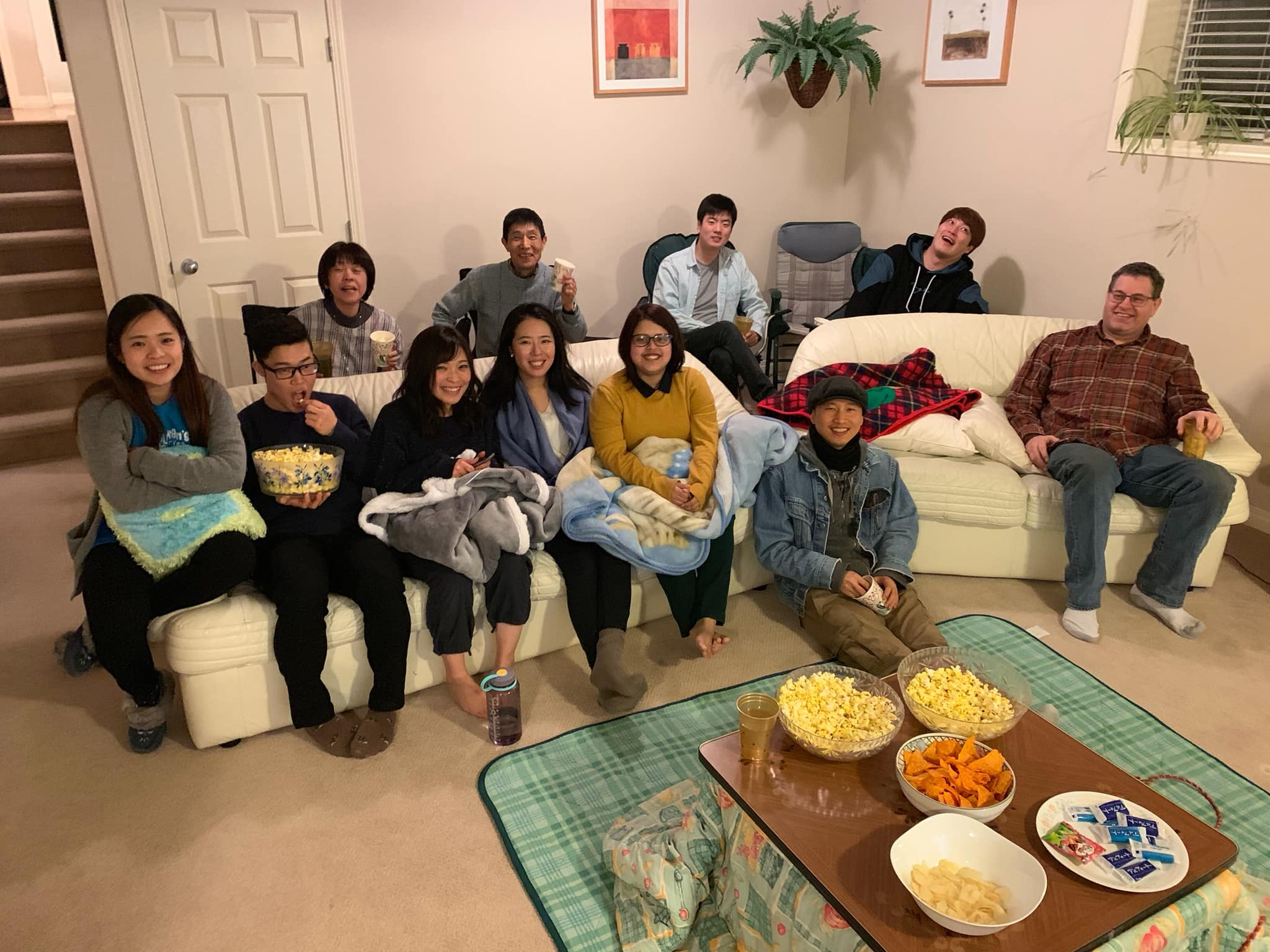 2/3 Movie night at Taniguchi's.  Curry and Popcorn!