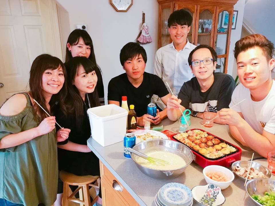5/6 Takoyaki Party with the new Japanese students at Taniguchi