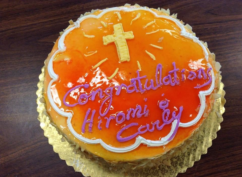 Hiromi & Carly's baptismal celebration