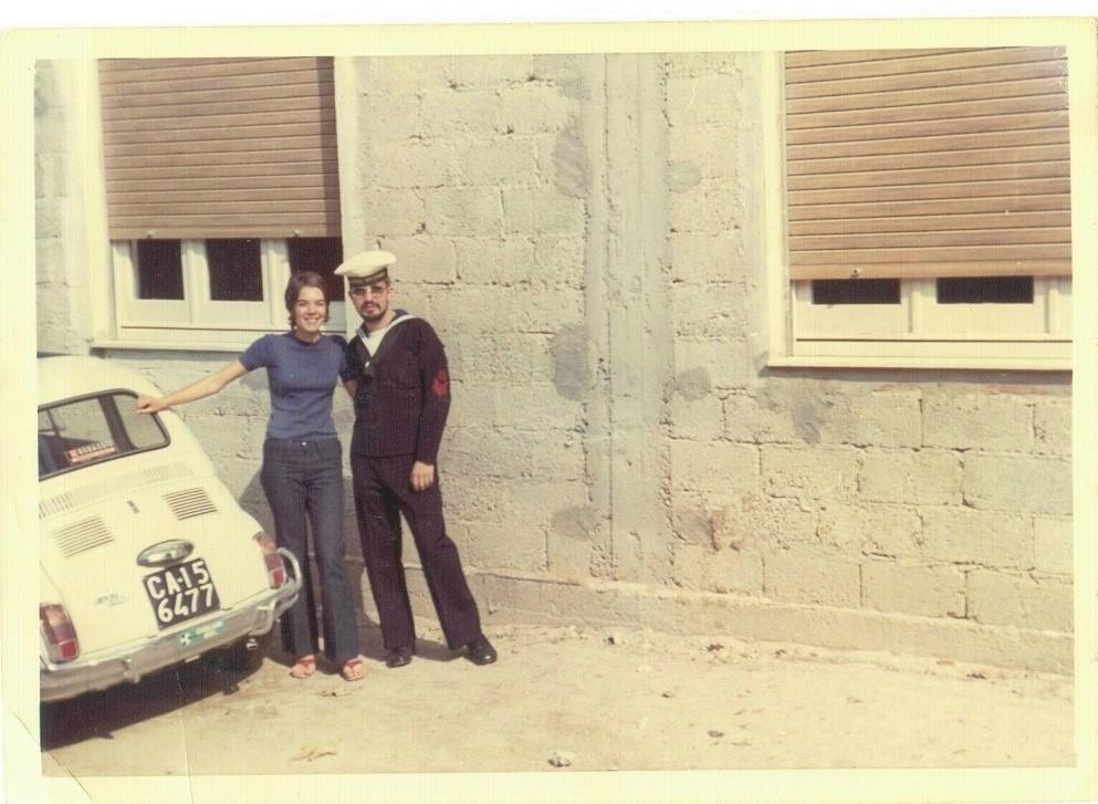 1971 - con Emma,  futura moglie