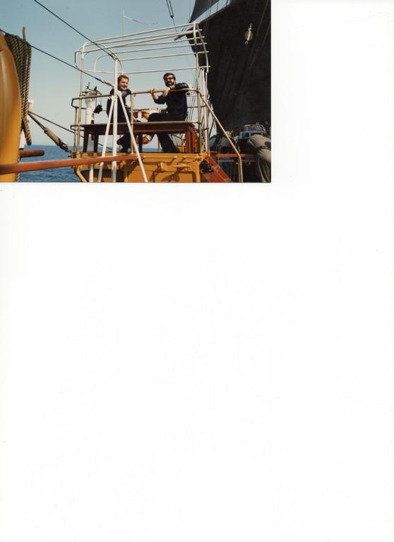 1988 - Capo 2^ cl.(Segretario al Comando su Nave Vespucci) con T.V. Rognini