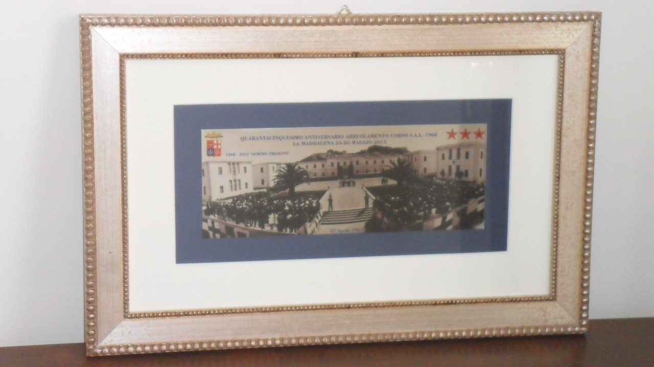 La Maddalena - 24/26 Maggio 2013 - Raduno del Quarantacinquennale - Quadro a ricordo del Giuramento prestato il 27 aprile 1969