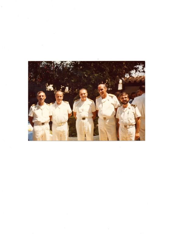 1986 - Capo 2^ cl. Ximenes -  al centro A.D. Geraci ( CINC di Marisardegna)