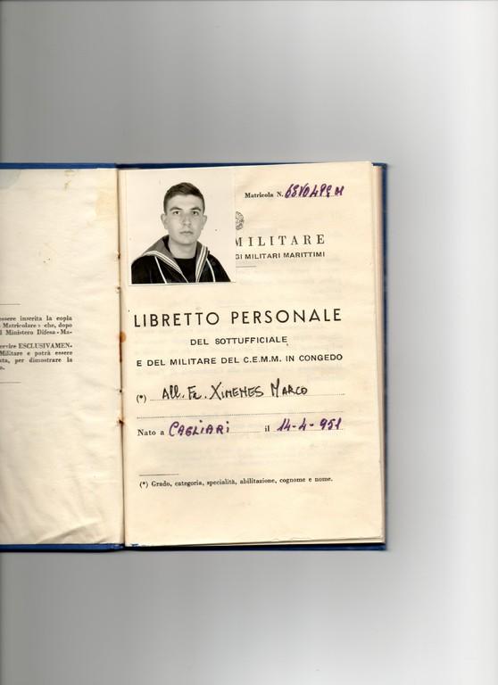 1968 - Libretto personale All. VO