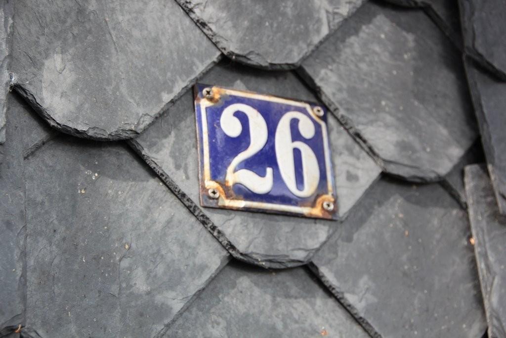 Die historische Hausnummer