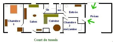 Plan du gîte Le Plouy, Somme
