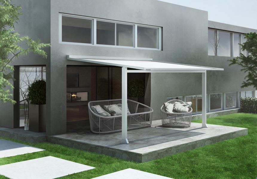 Store pergola ZIP sur pied : protection solaire