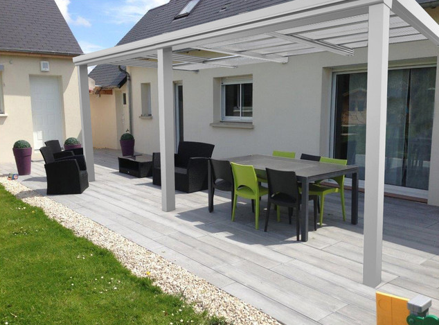 pergola aluminium toiture coulissante manuelle pergola bioclimatique pergola store. Black Bedroom Furniture Sets. Home Design Ideas
