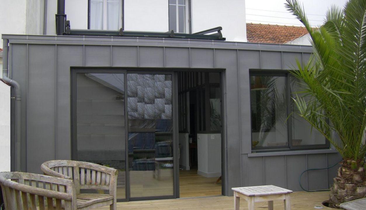 extension sur Ossature bois - bardage zinc