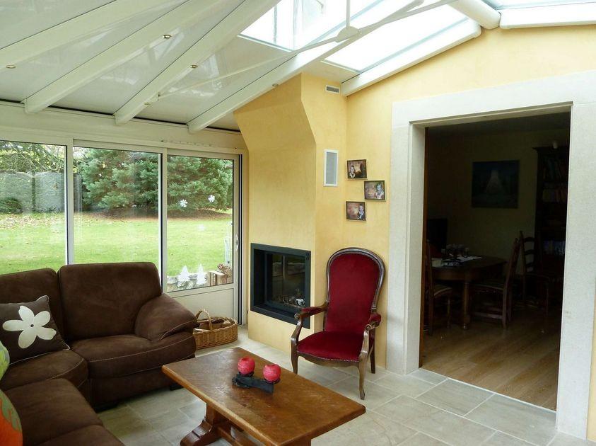 Extension Salon + cheminée intégrée