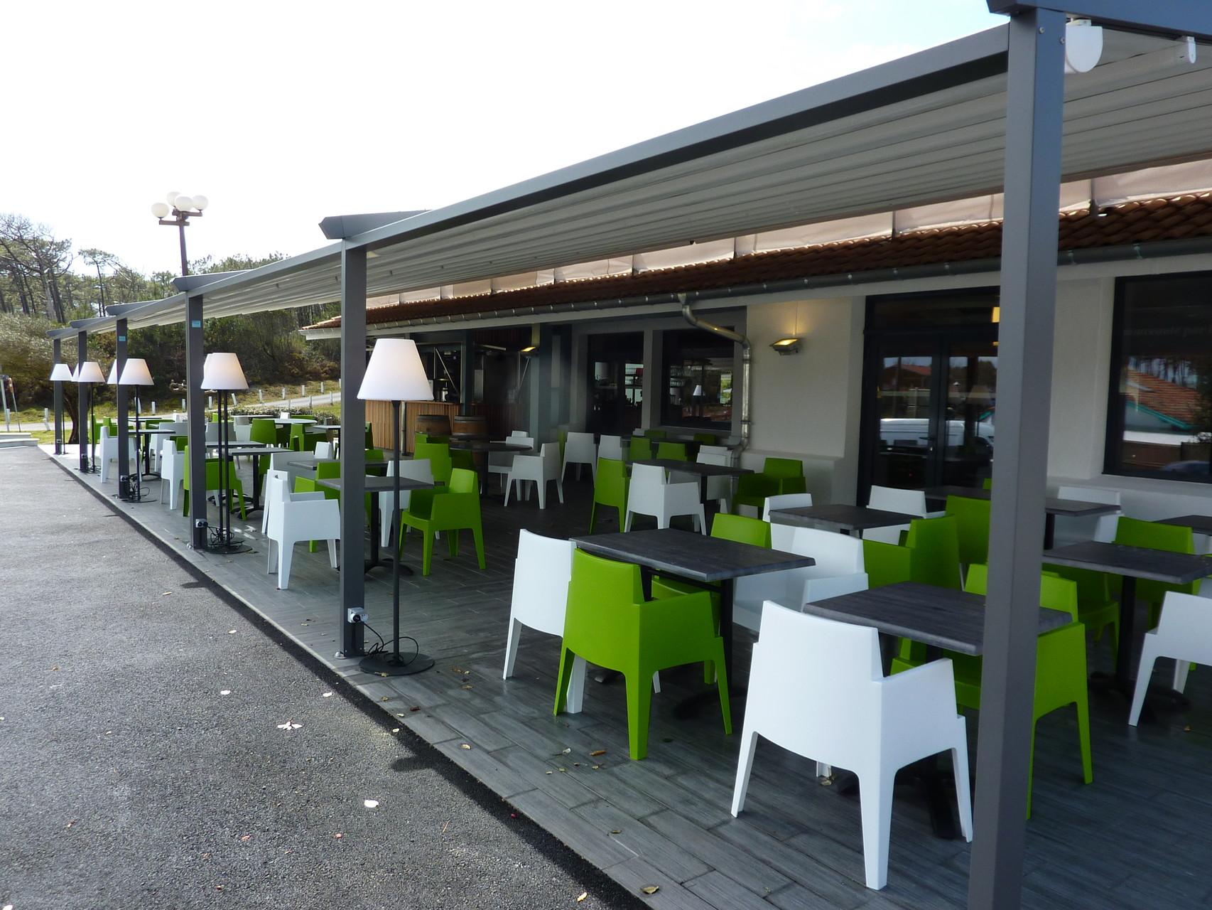 pergola, protection terrasse pour professionnels : café, hôtel ...