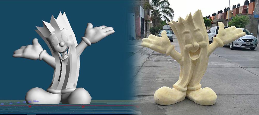 figuras decorativas en espuma de poliuretano