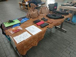 エゾシカ革製品展示(エゾプロダクト)