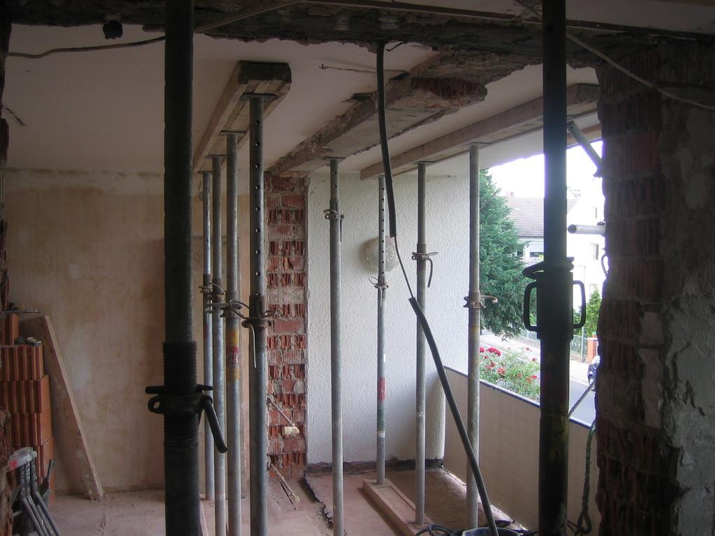 Balkon - während des Umbaus