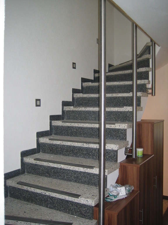 Treppe  - während des Umbaus