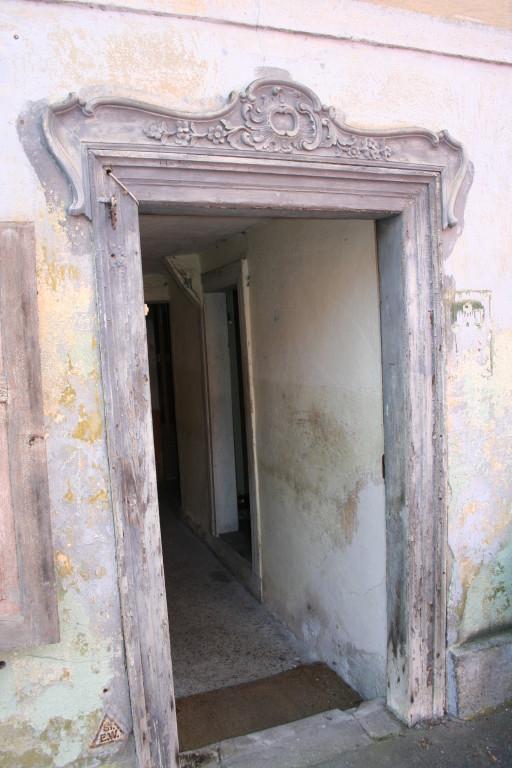 Blick auf die Haustür