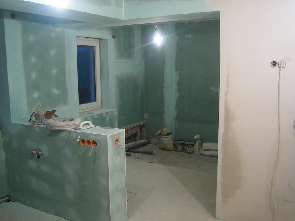 Badezimmer - während des Umbaus