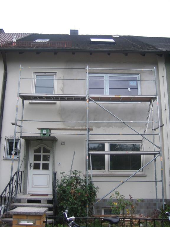Balkon Außenansicht - geputzt