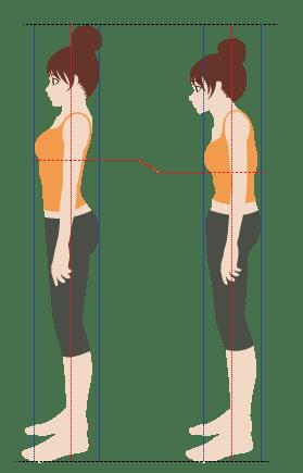 姿勢の違い