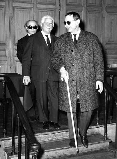 Jean Langlais, André Marchal et Gaston Litaize à l'I.N.J.A. de Paris.