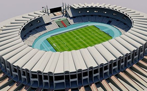 Zayed Sports City Stadium (Arabic: ستاد مدينة زايد الرياضية‎), is an iconic multi-purpose stadium located in Zayed Sports City, Abu Dhabi, United Arab Emirates. It is the largest stadium in the UAE with more than 43,000 seats.  The stadium also hosted the