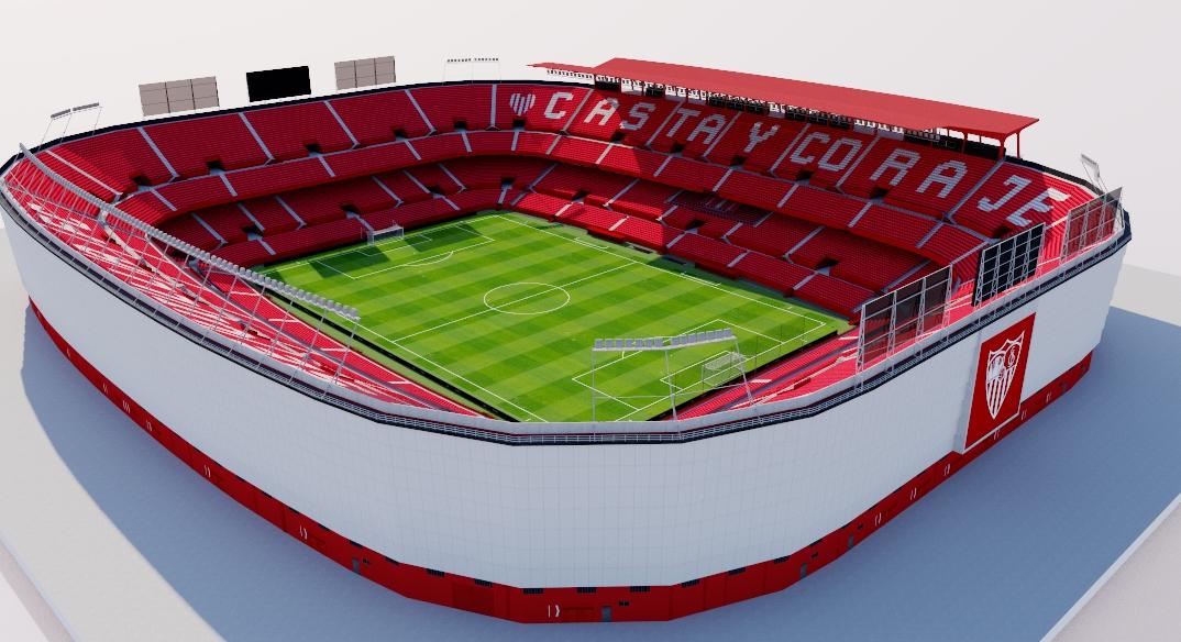 Estadio Ramon Sanchez Pizjuan Sevilla Fc Best 3d Models Of Sports Shop