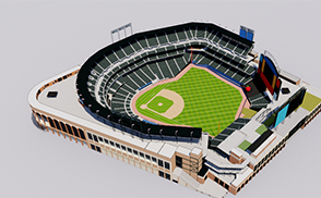Citi Field Stadium 3d mls baseball usa america canada stadium stadion estadio baseball mets 3d mets mascot new york mets stadium arena stadion estadio ballpark america usa vr ar