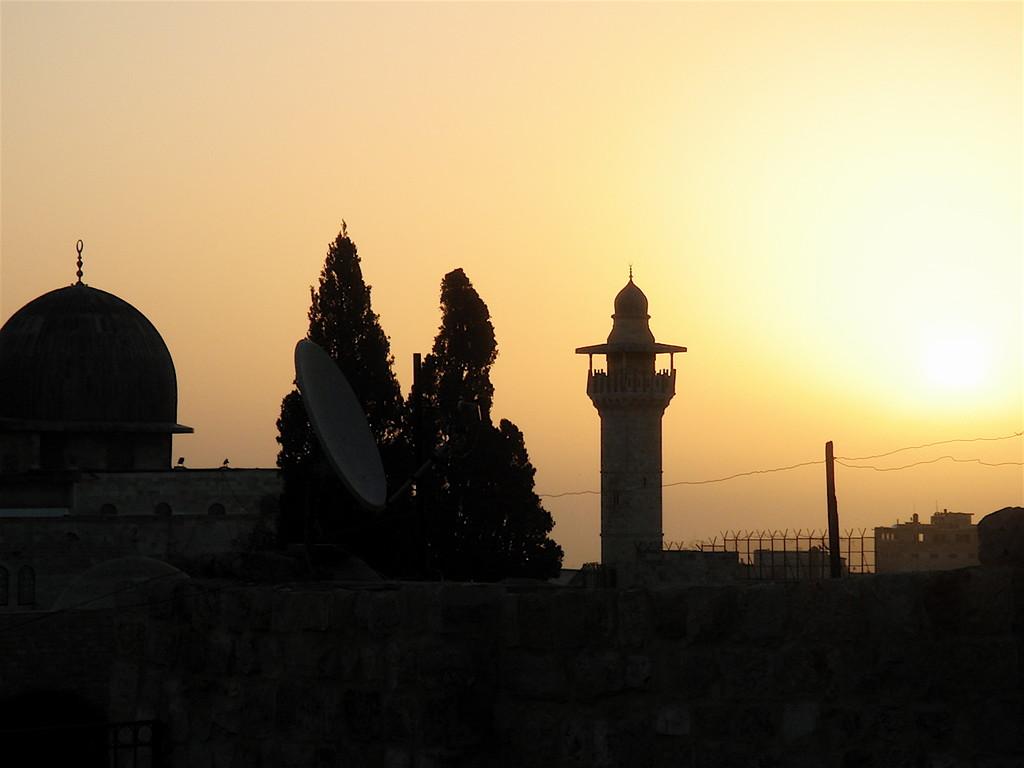Gerusalemme - alba alla moschea di Al Aqsa