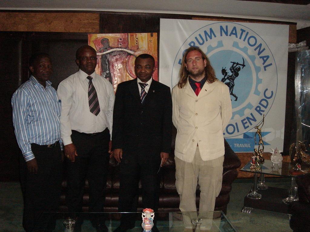 con il ministro del lavoro Kambere Kalumbi