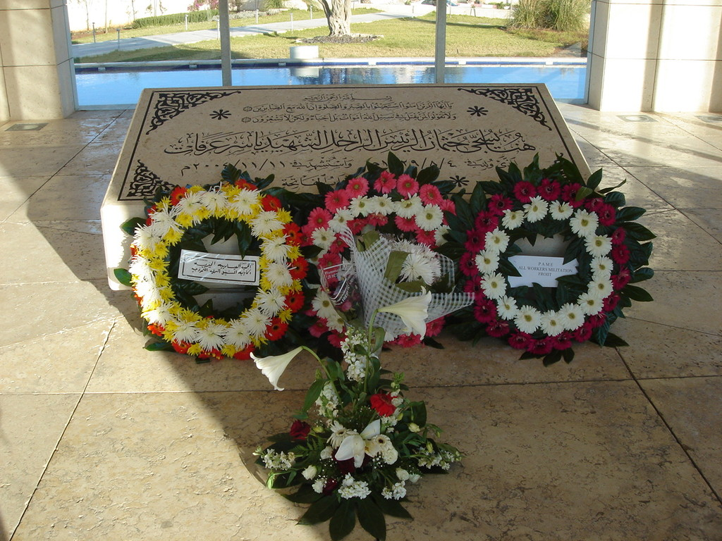 Ramallah - la tomba del presidente Yasser Arafat, Nobel per la Pace