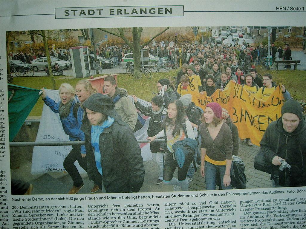 sciopero a Erlangen