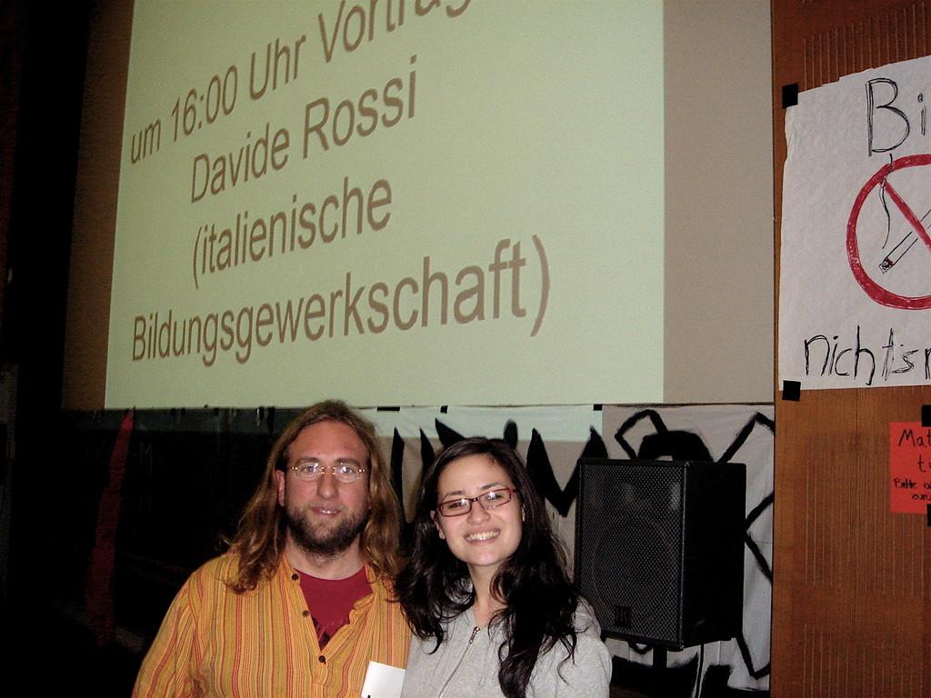 Davide Rossi con la Responsabile SISA Erlangen Ceyda Keskin