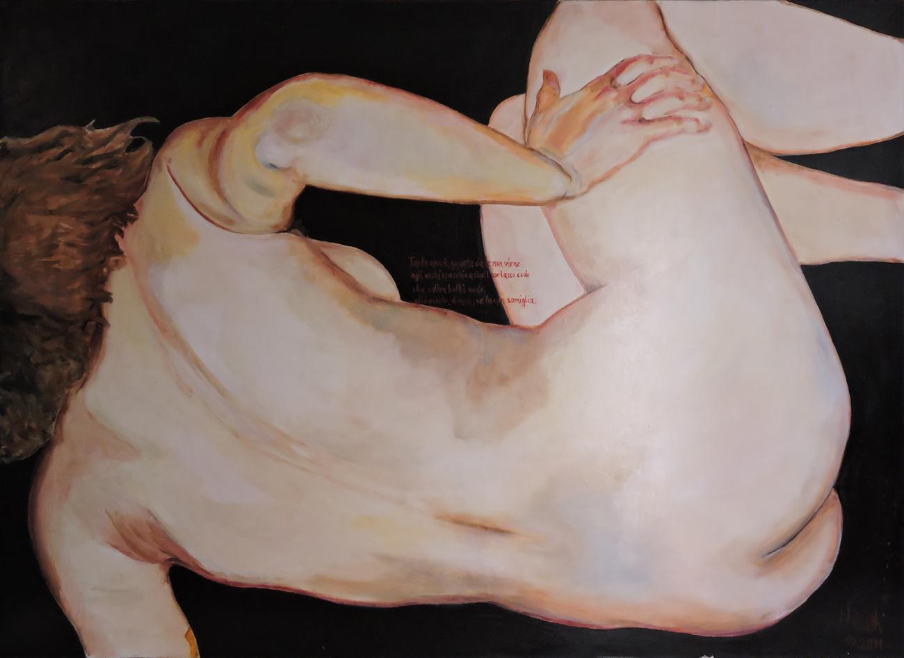 """""""Nicht Spiegel für meine Augen"""", 220x155 cm, 2011   € 4800,00 (inkl.MwSt.)"""