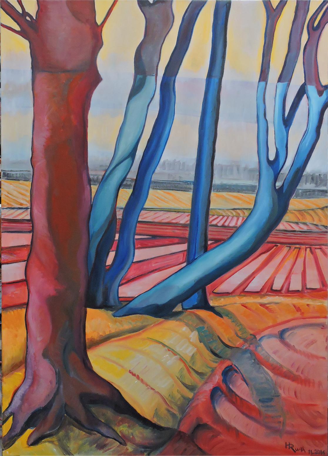 """""""Bäume  2"""", Öl auf Leinwand, 150 x 100 cm, 2016"""